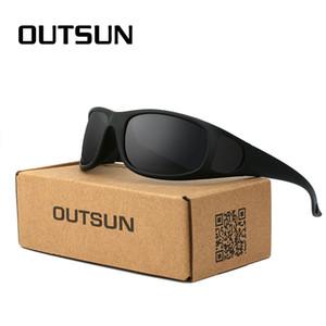 OUTSUN Plus Мода Гибкие солнечные очки Мужчины Поляризованные объектив Марка Дизайнер Polaroid рыбы очки óculos Камуфляж случай