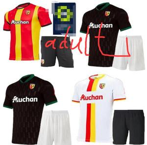 adult kids 20 21 RC Lens home away soccer jerseys Gradit Fortes Cahuzac Perez 2020 2021 Mauricio Camisa de futebol Kakuta men child maillot