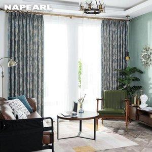 NAPEARL 1 قطعة شبه تظليل مورديرن Stylr التجهيل الستائر لغرفة النوم العلاجات Living Room نوافذ أزياء أطفال ديكور المنزل