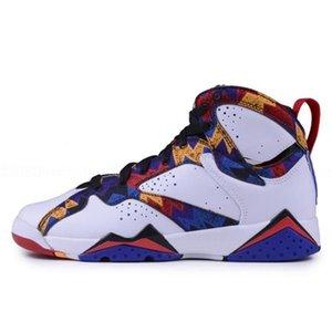 ayakkabılar kadınlar YENİ basketbol Pantone 7 erkek Üniversitesi havası mavi Alternatif Olimpiyat Yabani tavşanlar Puro Kardinal Charcoal J7 Sneakers raptro Retro 7'ler