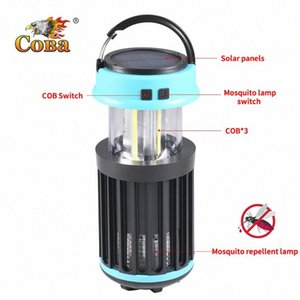 Led uv Mosquito repellent lamp portable tent light cob handle solar 4 modes torch usb rechargeable built-in battery adjustable oWCA#