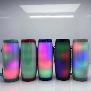 Hot TG157 Portable LED Lamp Speaker Waterproof Fm Radio Wireless Boombox Mini Column Subwoofer Sound Box Mp3 USB Phone Computer Bass DHL