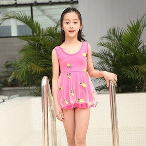 IRQCm estudiante de 5-9 años de edad, de malla traje de baño' Princess Princess vestido de los niños del vestido de Corea lindo traje de baño de una sola pieza de los niños niñas
