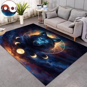 Dream Catcher par JoJoesArt Tapis Lune Eclipse Galaxy Loup Grand tapis décoratif pour Living Room Modern Home Mat alfombra Anti-sale