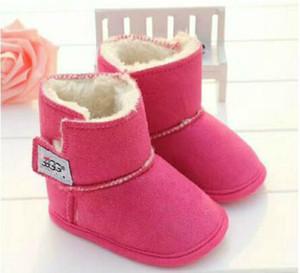 Новорожденных мальчиков и девочек Теплый Снег сапоги Новейший сапоги зима детская обувь малышей Prewalker обувь размер