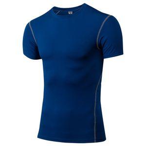 High Spandex Men's Running T-Shirts Fit Sport T-Shirts Fitness Shirt Sleeve Soccer Shirts Men's Jersey Sports