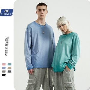 Be men's wear | fall   winter 2020 edging gradient copy color base coat top high street fashion brand long sleeve T-shirt for men inf