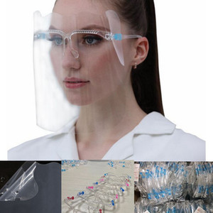 Безопасность Face Shield многоразового Oil-брызгоотражатель Face козырек Прозрачного Anti-Fog Layer Защищает Глаза лица Маски из стекла волны стиля LJJK2492