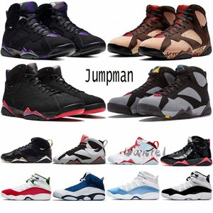 Hommes 6 anneaux de basket-ball Chaussures Blanc UNC Light Blue Fury Cyber Fashion 7S moments d'or verni noir Femmes sport Baskets Sneakers