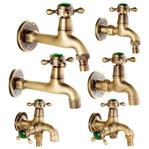 Decorativa Outdoor Faucet Garden Bibcock Tap Natural esmeralda banho Máquina de lavar roupa Mop Tap
