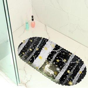 Natale Elk Bagno stuoia della toletta idrofobico antiscivolo Porta Tappeto vasca da bagno all'aperto rilievo del piede del PVC Hollow Ventosa Carpet