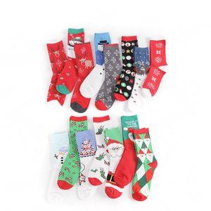 Calcetín de invierno Calcetín rojo Navidad Calcetín de dibujos animados lindo calcetines de algodón Mantenga cálido Baby Girl Boy SOFT SOCKS GWC2110