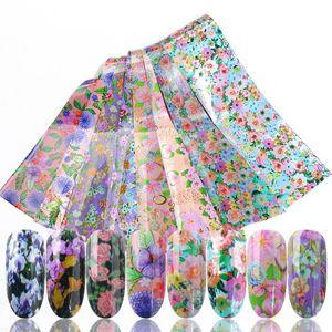 16pcs Nail Foil Polish Stickers Mix Rose Flower Transfer Foil Nails Decal Sliders For Nail Art Decoration Manicure Designs