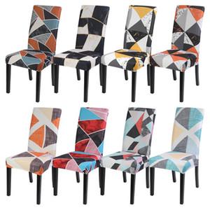 Geométrica Comedor elástico para sillas de cubierta extraíble lavable Stretch 1pcs Asiento Protector