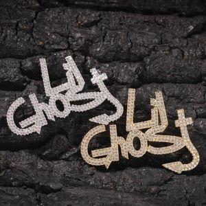 HIP-HOP NEW LIL Ghost Мода Личность Алфавит Алфавит Алфавит Ожерелье Подвеска Trend Wild Ожерелье Фабрика прямых продаж
