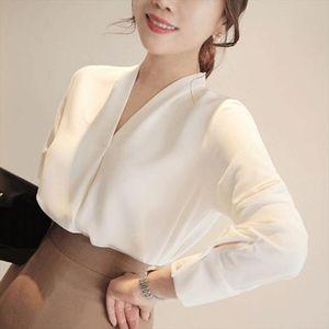 Brief Stil şifon Bluz Kadınlar Uzun Kollu Gömlek Ofis Lady Kadınlar blusas Femininas CAMISAS Mujer Tops