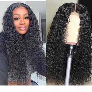 Water Wave Curly Lace Front Wigs For Black Women 13X6 Lace Front Wigs Short Bob Curly Full Lace Wigs With Baby Hair