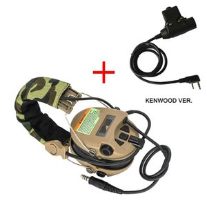 Tactical Sordin Headset Hunting Shooting Headphone Pickup Noise Reduction Hear protection Earmuff+U94 2 Pin ptt