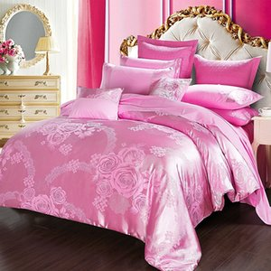 One metre five eight summer bedding jacquard 4-piece bedding set cotton 1.8m bed quilt cover 200x 230cm bed