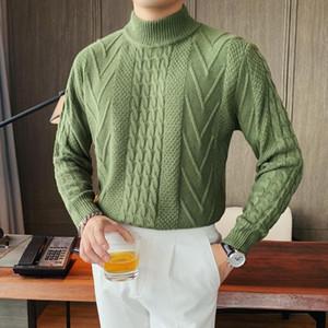 Maglione Moda Herren Pullover Ropa De Hombre Pull Homme Men Maglione mezzo-dolcevita autunno stile coreano Sueter Hombre