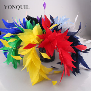 Elegant Nice Wedding corsages Flower Feathers Dance Latin Dance Decoration Dinner Party Plume Headwear DIY accessories 6PCS LOT