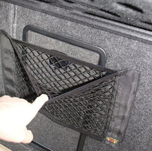 Car Magic Sticker Mesh Storage Bag 40*25cm Car Back Rear Trunk Seat Elastic String Net Pocket Cage Auto Organizer Seat Back Bag DBC BH4077