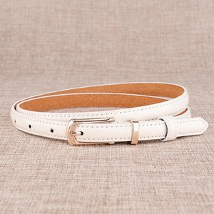 Fine Paragraph Ms. Leather Belt Korean Version of The Wild Womens Pin Buckle Candy-Colored Slender Belt Decoration Fashion & Casual Leather