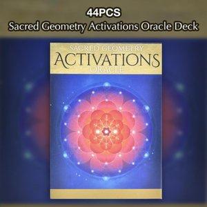 44 Pcs cartes de Tarot Portable Géométrie Sacrée Activations Tarot Pour Party cadeau famille Intérieur Playing Card Game Entertainment bbyPvT