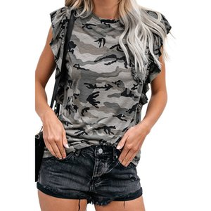 Summer Tees Casual Women Camouflage T-Shirts O-Neck Short Sleeve Tops Fashion Women Shirts Loose Ladies Leopard Print Tee Shirts