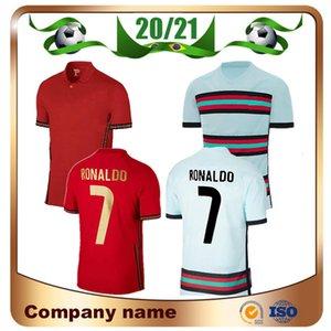 2020 Ronaldo Soccer Jersey 20/21 Home Red João Félix Guedes Bernardo Camicia da calcio Felix Shirt Moutinho J.Mario Uniformi di calcio