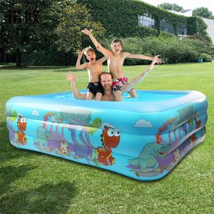 Children's Inflatable Swimming Pool Amusement Park Pattern Inflatable Swimming Pool Bath Kids Summer Water Entertainment Toys