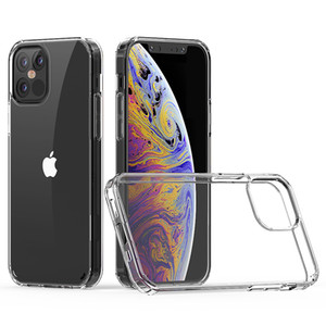 Для iPhone 12 11 про максимум для Samsung примечание 20 ультра прозрачный акрил TPU для LG Stylo 5 Aristo 3 плюс случай телефона