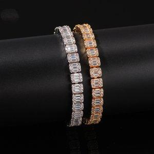 18K Gold Silver Black Gold CZ Iced Out Zircon Tennis Bracelet For Hip Hop Women Men Single Row Rhinestone Jewelry Gifts