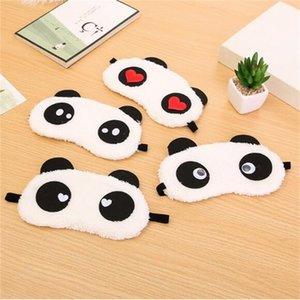 La morbidezza portatile del panda del fumetto visiera Carino Spa maschera per gli occhi Blinder Blindfold Viaggiare resto di sonno Accessori 222