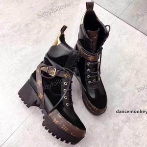 Louis Vuitton boots Luxe Femmes Bottes Impression Marque Martin Bottes Тарелка формный Botte De Neige Travail Botte Dame Blanche Bottes Дизайнер Hiver