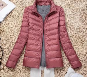 New Autumn Winter Warm Women Ultra Light Down Jacket White Duck Down Lightweight Parkas Ladies Thin Slim Short Coat66