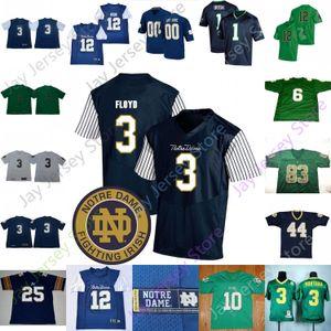القتال الايرلندي كرة القدم جيرسي كلية NCAA Jeremiah Owusu-Koramoah Quenton Nelson McGlinchey Fuller Smith Te'o Martin Jones Mirer Patulski