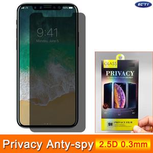 Защитник экрана конфиденциальности для iPhone 12 11 Pro 2.5D 9H 0,3 мм 45 градусов закаленного стекла для XR XS MAX X 8 7 для Samsung Huawei Xiaomi с коробкой