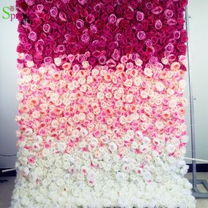 SPR Ombre style pink 2.4*2.4m Free Shipping factory sales flower wall wedding backdrop artificial flower table arrangements