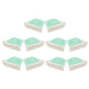 500 Pack 5 \ '\' lungo 50 pezzi in schiuma di pulizia di punta tamponi spugna Stick per getto d'inchiostro testina ottica di pulizia dell'obiettivo Resistenza ai solventi