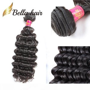 Bella Hair? 100% Unprocessed Human Hair Weave Dyeable 11A Deep Curly Wave Wavy Hair Bundles Free Shipping Top Quality Retail 1pc