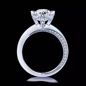 1CT Sterling Silver anniversario di nozze di Moissanite diamante Festa di fidanzamento BAND Fine Jewelry Donne di Natale 2020 regali