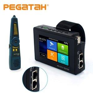 CCTV multi-fonction testeur 4 pouces H.265 / H.264 IP analogique 8MP AHD CVI IP Caméra vidéo TVI test rapide ONVIF IPC testeur POE Câble