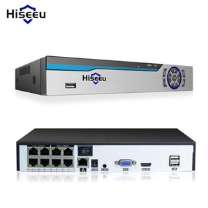 Hiseeu 4K 8MP POE NVR 8CH Audio ONVIF H.265 sorveglianza di sicurezza Video Recorder per POE IP 1080P 4MP 5MP 8MP fotocamera CCTVT Parts
