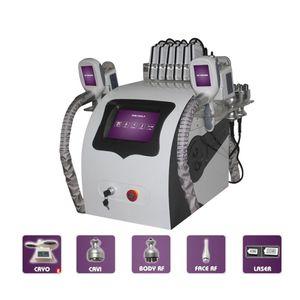5 In 1 Cryolipolysis Fat Freezing Slimming Machine Cryotherapy Ultrasound 40K Cavitation RF Liposuction Lipo Laser Machine