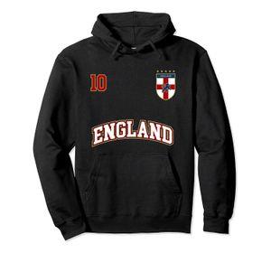 Angleterre de football Hoodie équipe numéro 10 English Flag Football