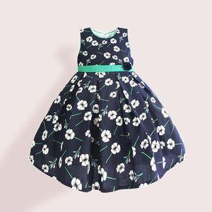 Hetiso 여자 꽃은 3-8 년 우아한 드레스 어린이 의류 소매 A 라인 캐주얼 어린이 드레스를 인쇄