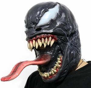 MenWomen Хэллоуин Venom Spider-Man косплей Мстители Venom латексные маски фильм Character Головной убор