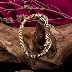 My Shape Latest Popularity Magic Pulsera vikinga Men Jewelry Bracelets Viking Vintage Dragon Animal Bracelet