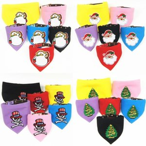 Nova Natal destacável Pet triangular Scarf Cat and Dog Saliva toalha Pet Shop Atacado Fábrica